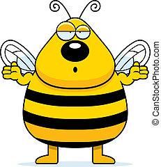Confused Bee - A cartoon bee shrugging and looking confused.