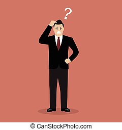 Confused businessman. Business Concept Vector illustration