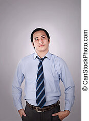 Confused Businessman Thinking Expression