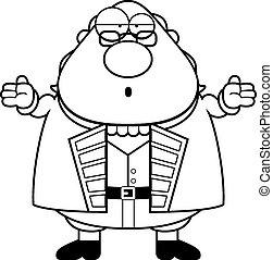 Confused Cartoon Ben Franklin