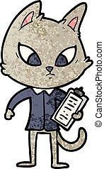 confused cartoon business cat