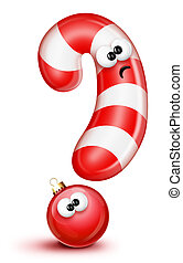 Confused Cartoon Candy Cane