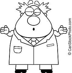 Confused Cartoon Mad Scientist