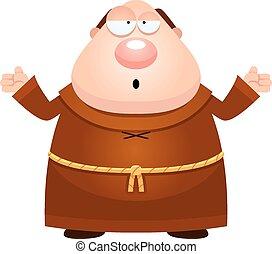 Confused Cartoon Monk