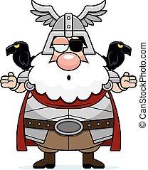 Confused Cartoon Odin