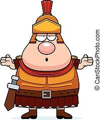 Confused Cartoon Roman Centurion - A cartoon illustration of...