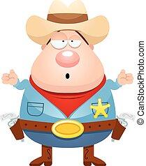 Confused Cartoon Sheriff