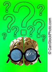 Confused Clever Brain 7 - A clever brain that has got a bit ...