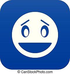 Confused emoticon digital blue