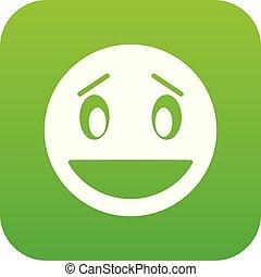 Confused emoticon digital green