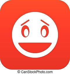 Confused emoticon digital red