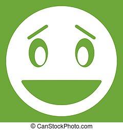 Confused emoticon green