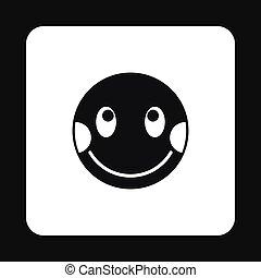 Confused emoticon icon, simple style