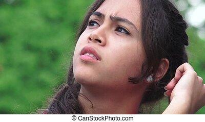 Confused Female Teen