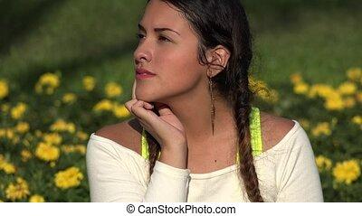 Confused Female Teenager