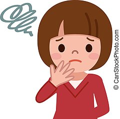 Girl expressions. funny cartoon stock illustrations ...