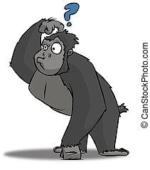Confused Gorilla - A cartoon gorilla who is very perplexed ...