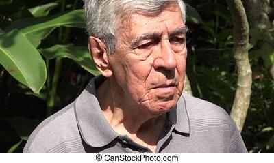 Confused  Or Worried Elderly Man