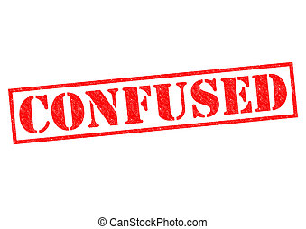 CONFUSED red Rubber Stamp over a white background.