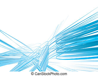 confused scribble - Abstract blue background with scribbled...