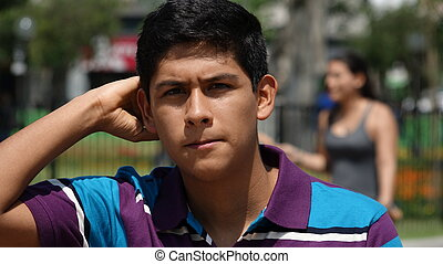 Confused Teen Boy