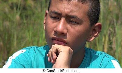 Confused Teenage Boy