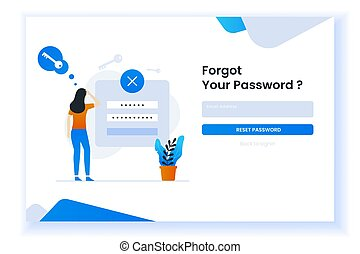 confused woman forgetting her password illustration for web ...
