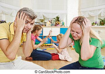 confusión, crianza, niños