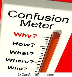 confusión, dilema, indecisión, metro, exposiciones