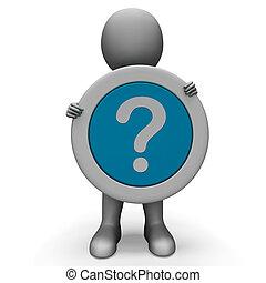 confusión, duda, pregunta, exposiciones, marca