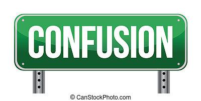 confusion, concept., conception, signe