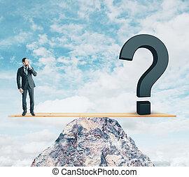 confusion, et, risque, concept