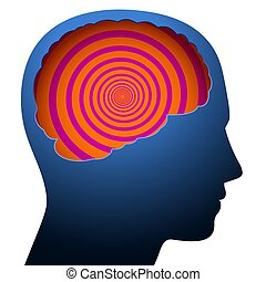 confusion, vertige, cerveau, tête, mental
