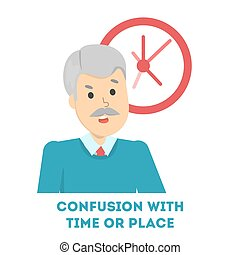 Confusion with time or place as symptom of alzheimer disease...