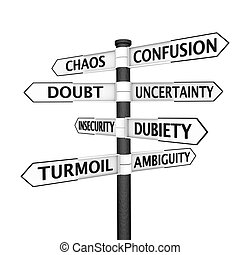 confusione, signpost