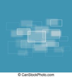 confuso, combinación, cuadrados