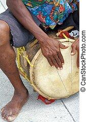 Conga drummer.