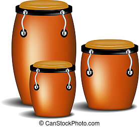 Congas band - Congas the percussion of music band with...