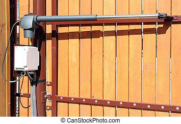 congegno, cancello, opening/closing, automatico