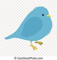 congelação, pássaro azul, ilustração