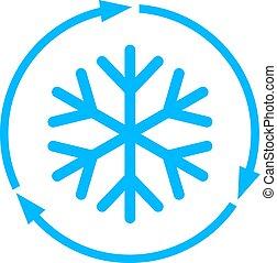 congelação, vetorial, ícone
