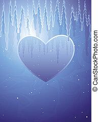 congelado, corazón
