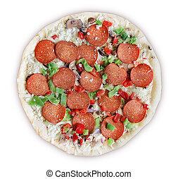 congelado, deluxe, -, pizza