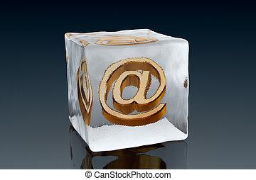 congelado, email