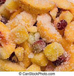 congelado, fruta