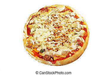 congelado, galinha, pizza carne
