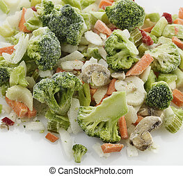 congelado, legumes