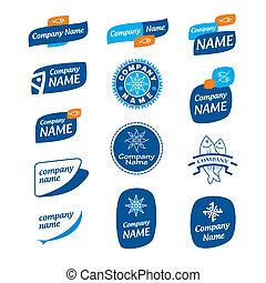 congelado, logotipo, marisco