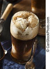 congelado, Oscuridad, cerveza, flotador, Cerveza negra