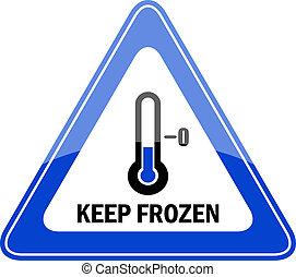congelado, retener, vector, señal